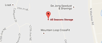 All Seasons Storage Map and Directions